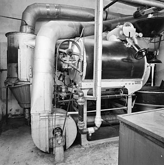Coffee preparation - Dutch coffee-roasting machine, c. 1920