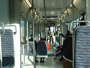Škoda 10 T - Interior of Tacoma Streetcar