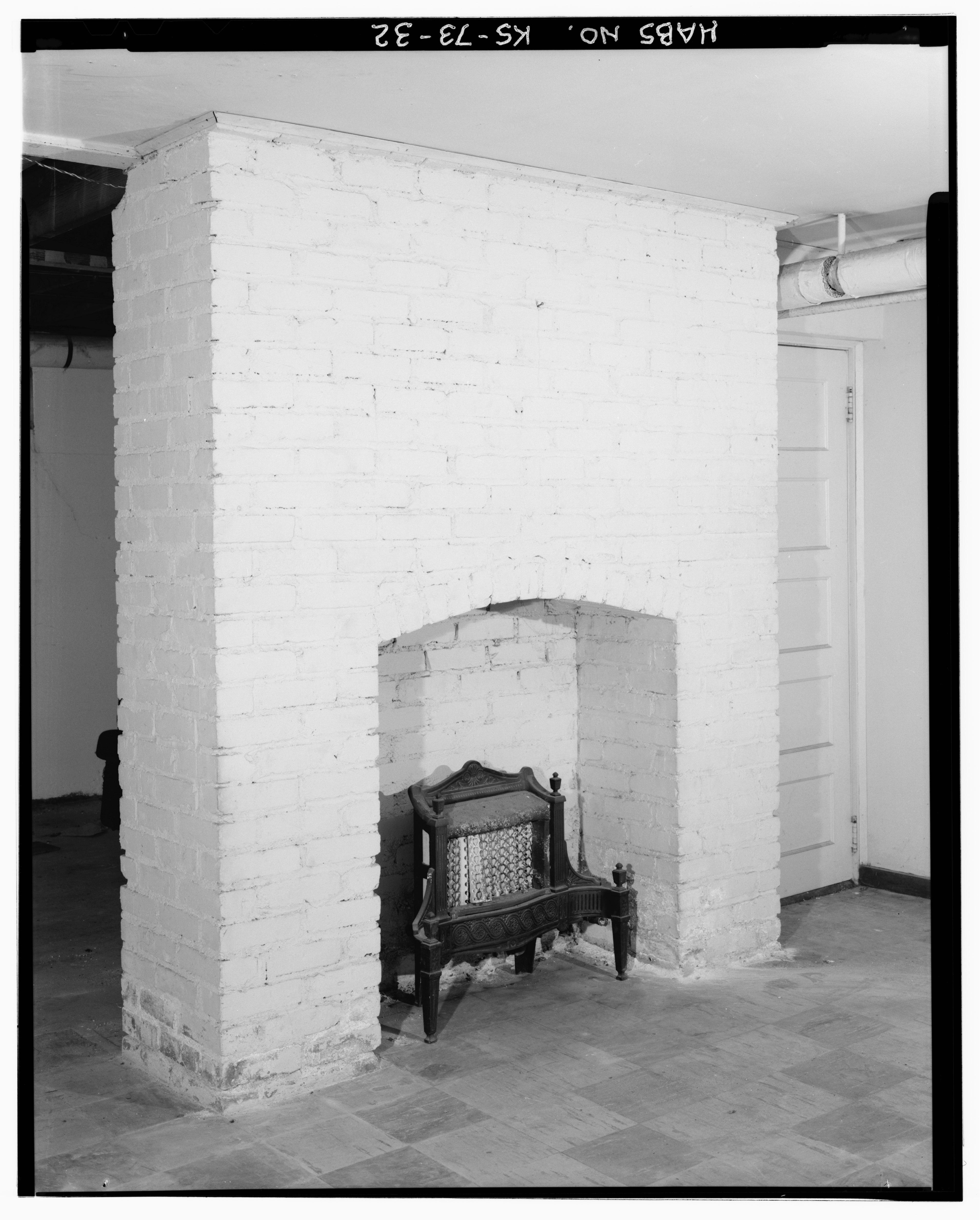 File Interior View Basement Unit 6 Detail Fireplace W K Bowman O 39 Neal Apartment Building