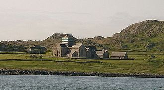 Iona - The Abbey as seen from the sea