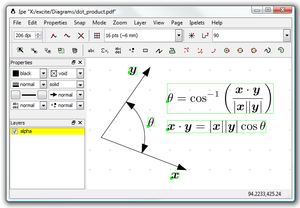 Ipe (software) - Image: Ipe 6 screenshot