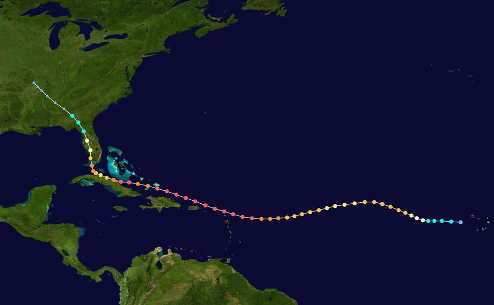 Irma 2017 track