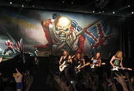 Iron Maiden la un concert in Paris