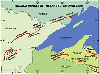 iron ore region in Michigan and Wisconsin