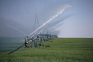 Green Revolution - Increased use of irrigation played a major role in the green revolution.