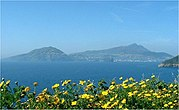 Views of Ischia from Procida
