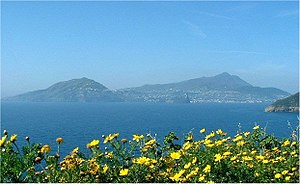 Ischia - View of Ischia from Procida.