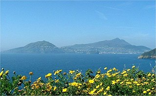 Ischia volcanic island in the Tyrrhenian Sea