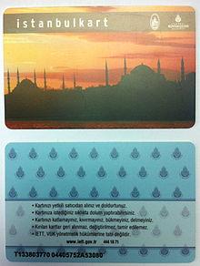 Tarjeta de transporte de Estambul