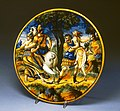 Italian - Dish with Castor and Pollux Rescuing Helen - Walters 481328.jpg