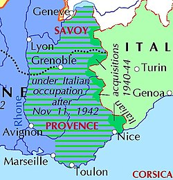 Capital Of France Map.Italian Occupation Of France Wikipedia