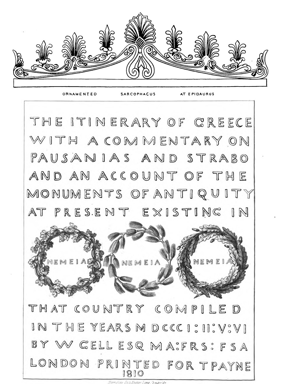 Itinerary of Greece title page