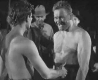Ivan Linow - Ivan Linow about to fight Joel McCrea in 1930's The Silver Horde.