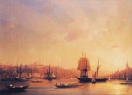 Ivan Constantinovich Aivazovsky - Dusk on the Golden Horn