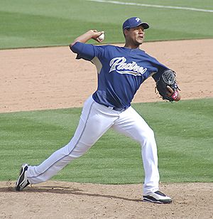Iván Nova - Nova with the San Diego Padres during spring training in 2009