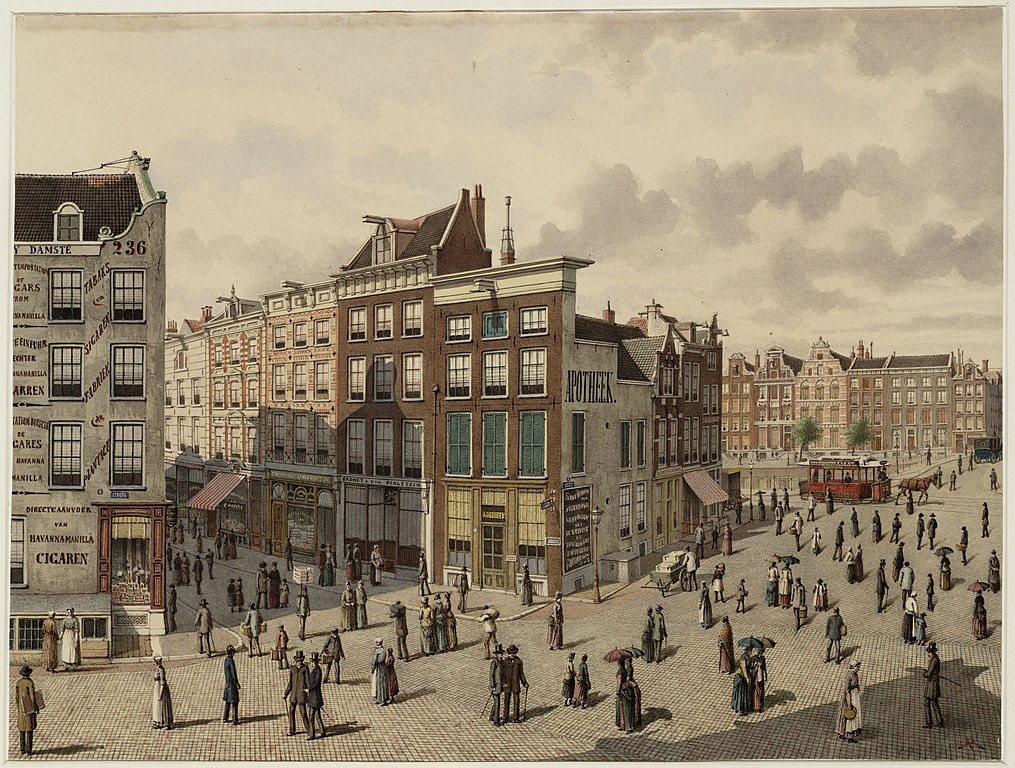 Illustration d'Amsterdam aux Archives municipales.