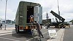 JASDF Standby Vehicle 1(Mitsubishi Fuso The Great, 49-8524) left behind view at JMSDF Maizuru Naval Base July 29, 2017.jpg