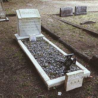 Joseph Finegan - The grave of Joseph Finegan in the Old City Cemetery of Jacksonville, Florida.