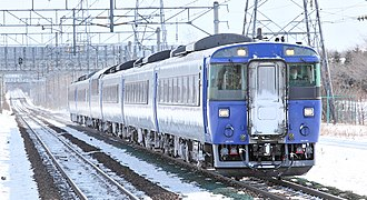 Hokuto (train) - Image: JNR 183 series DMU 519