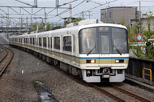 Sagano Line - 221 series on a local service