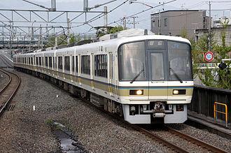 Sagano Line - 221 series on a local service