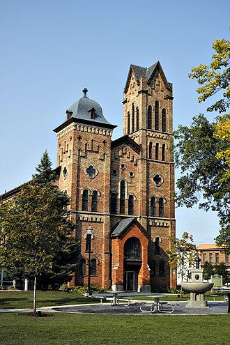 National Register of Historic Places listings in Jackson County, Michigan - Image: Jackson Michigan First Congregational Church 1