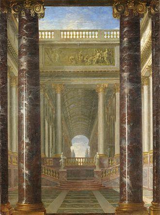 Jacques Rousseau (painter) - Image: Jacques Rousseau Perspective de jardins Google Art Project
