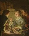 Jacques de L'Ange - An old Woman weighing Gold, Avarice.jpg