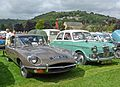 Jaguar E-type and Riley One Point Five (28724133972).jpg