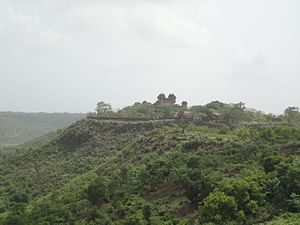 Jawhar - A view of the Jaivilas Palace from the Hanuman Point, Jawhar