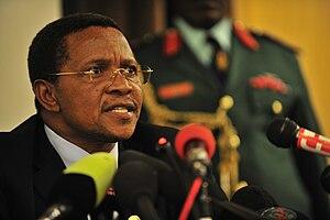 Jakaya Kikwete, the president of Tanzania, ans...