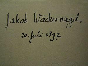Jacob Wackernagel - Autograph
