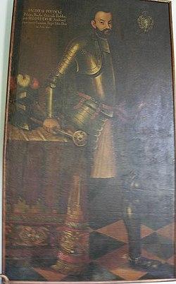 портрет Якуба Потоцького, замок у Ланьцуті