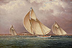 James E. Buttersworth - Yachting in Boston Harbor.jpg