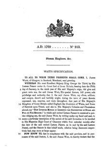 Il brevetto del 1769 del motore a vapore di James Watt. e025e6e4ac99