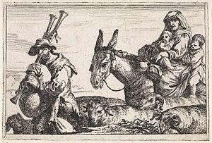 Jan Baptist de Wael - The Piper