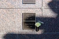 Janet Leigh grave at Westwood Village Memorial Park Cemetery in Brentwood, California.JPG
