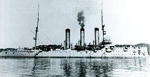 Japanese cruiser Tsugaru in 1918.jpg