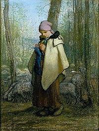 """""""Bergère tricotant"""""""