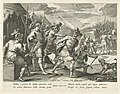 Jefta wordt door zijn broers verjaagd Geschiedenis van Jefta (serietitel), RP-P-1886-A-10909.jpg
