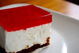 Jell-o cream cheese square