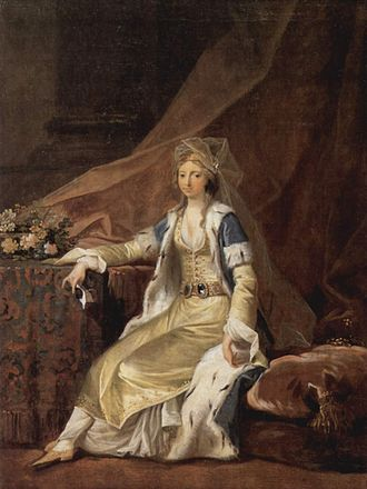 Princess Louise Auguste of Denmark - The Duchess in Turkish garment portrayed by Juel