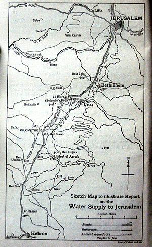 Al-Arroub (camp) - Al-Arroub before 1948, supplying water to Jerusalem