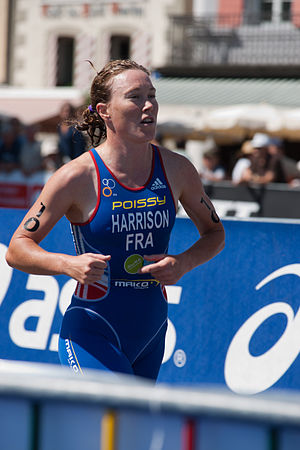 Jessica Harrison (triathlete) - Image: Jessica Harrisson Triathlon de Lausanne 2010
