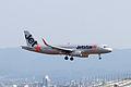 Jetstar Japan ,GK652 ,Airbus A320-232 ,JA07JJ ,Arrived from Oita ,Kansai Airport (16182170923).jpg