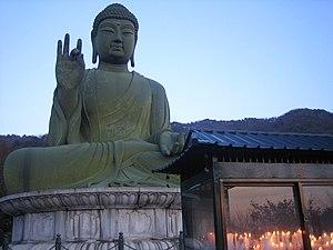 Cheonan - Joabulsang bronzed Buddha.