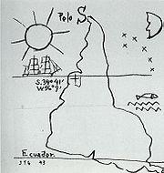 América invertida (1943) de Joaquín Torres García.