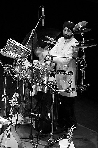 Johnny Kalsi - Kalsi performing with The Imagined Village in 2008