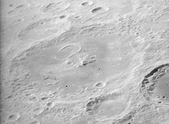 Joliot (crater) - Oblique Apollo 16 Panoramic camera image