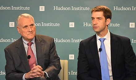 Cotton and Senator Jon Kyl speaking at Hudson Institute Jon Kyl and Tom Cotton 28024309880 (cropped).jpg